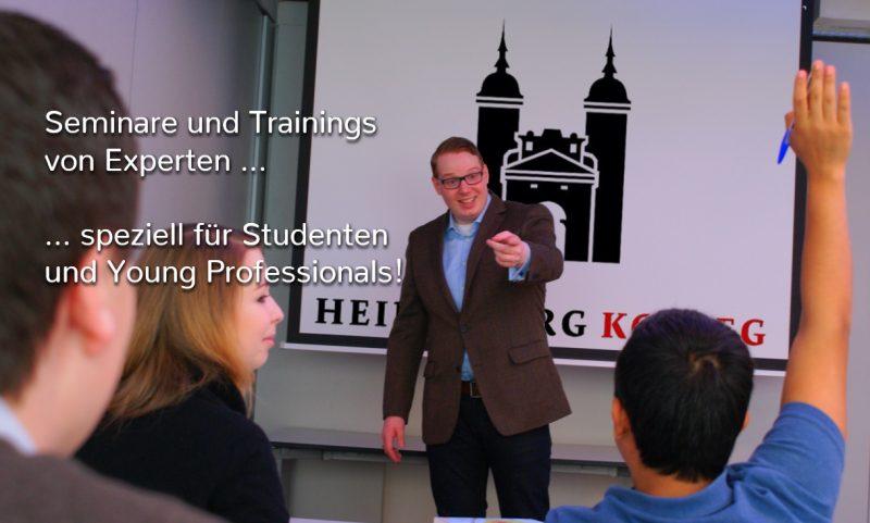 Seminare und Trainings von Experten speziell für Studenten und Young Professionals
